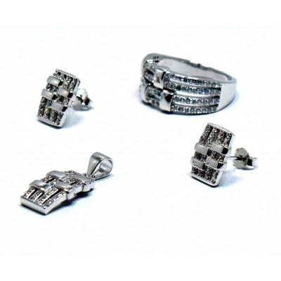 Zirkon Taşlı İthal Gümüş Set Takımı