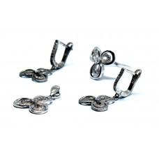 Üç Yaprak Yonca Modeli Gümüş Set Takımı