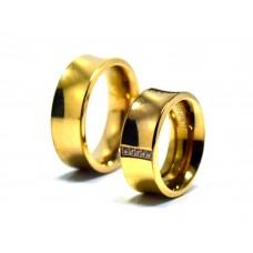 Rosegold Çift Çelik Alyans (2 yıl garantili)