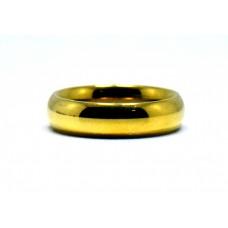 Altın Rengi Klasik Çelik Alyans (2 yıl GARANTİLİ )
