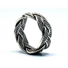 Özel Tasarım Kazaziye Modeli Gümüş Tek Alyans