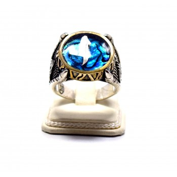 Elif Yüzüğü Sedefli gümüş yüzük