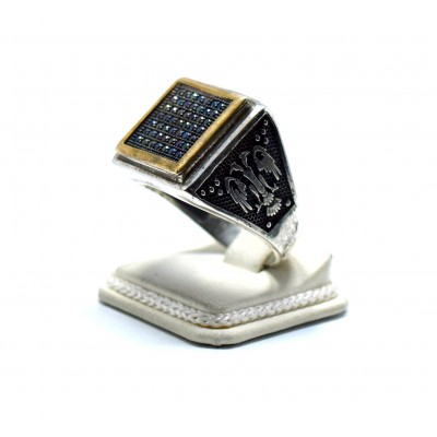 Mikro Zirkon Taşlı Gümüş Yüzük