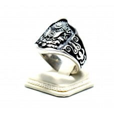 Osmanlı Fetih Armalı gümüş Zihgir (okçu ) Yüzüğü