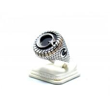 Granat ( lal ) Taşlı Ay Yıldızlı Gümüş Erkek Yüzük
