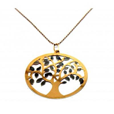 Hayat Ağacı Uzun Zincirli Gümüş Kolye