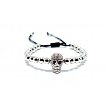 Gümüş Maske Objeli Titanium  Bileklik