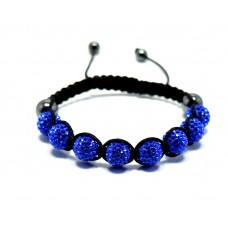 Mavi Renkli Zirkon Taşlı Örgülü Bileklik