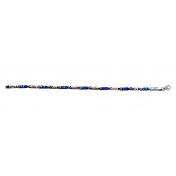 925 Ayar Gümüş  Opal Taşlı Suyolu Bileklik
